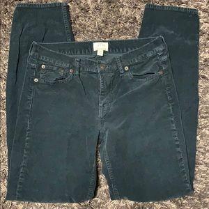 J crew black matchstick corduroy Jeans. 28